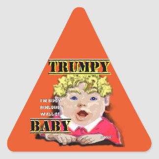 Etiqueta do sinal de estrada do bebê de Trumpy
