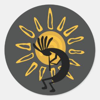 Etiqueta do sudoeste de Sun do ouro de Kokopelli