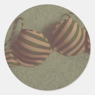 Etiqueta do sutiã adesivo