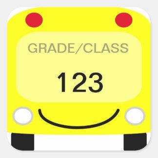 Adesivo Quadrado Etiqueta do Tag do auto escolar