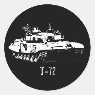 Etiqueta do tanque do russo T-72
