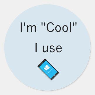 Etiqueta do telefone de Windows