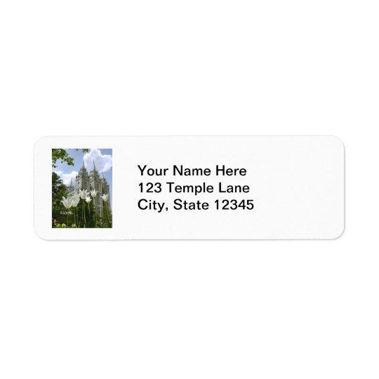 Etiqueta do templo de Mormon de Salt Lake City Etiqueta Endereço De Retorno