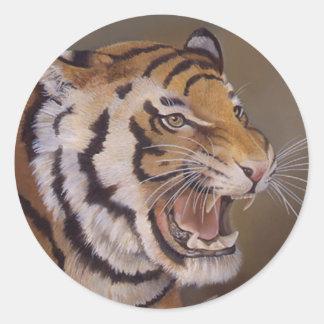 Etiqueta do tigre adesivo