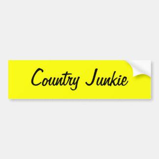 Etiqueta do toxicómano do condado para aqueles que adesivo para carro