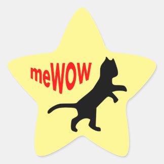 Etiqueta do trabalho da estrela do meWOW do gato