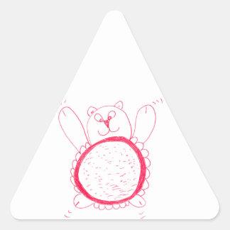 Etiqueta do triângulo do urso do girassol