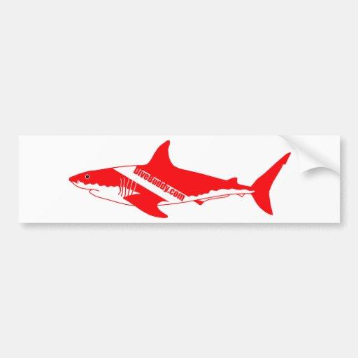 etiqueta do tubarão de DiveBuddy.com Adesivo