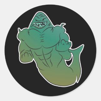 Etiqueta do tubarão do fantasma