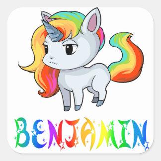 Etiqueta do unicórnio de Benjamin
