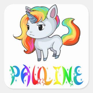 Etiqueta do unicórnio de Pauline