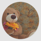 Etiqueta do urso de ursinho de Brown