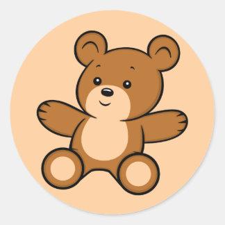 Etiqueta do urso de ursinho dos desenhos animados