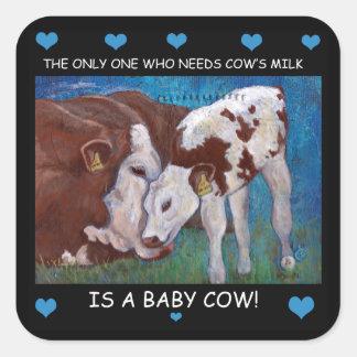 Etiqueta do Vegan do leite da mãe da necessidade
