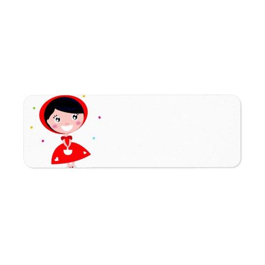 Etiqueta do viagem com princesa vermelha etiqueta endereço de retorno