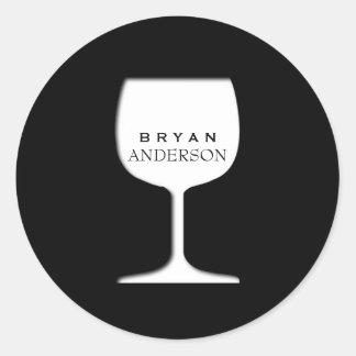 Etiqueta do vidro de vinho adesivo