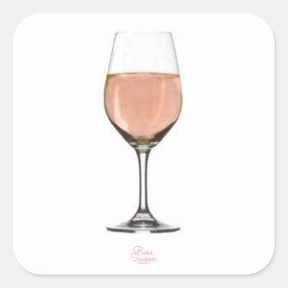 Etiqueta do vidro de vinho rosé