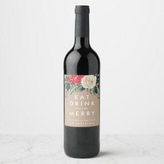 Etiqueta do vinho cor-de-rosa do feriado