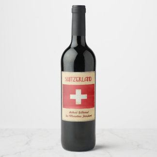 Etiqueta do vinho da suiça
