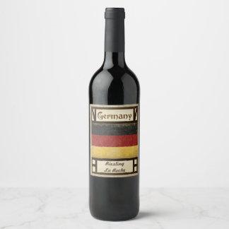 Etiqueta do vinho de Alemanha