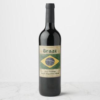 Etiqueta do vinho de Brasil