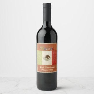 Etiqueta do vinho de México