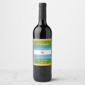 Etiqueta do vinho de Nicarágua