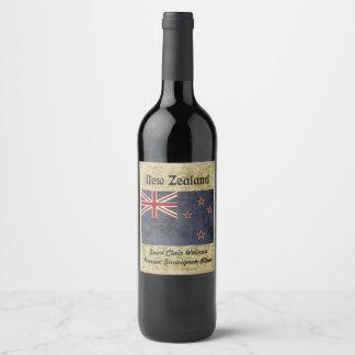 Etiqueta do vinho de Nova Zelândia