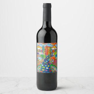 Etiqueta do vinho de Philadelphfia ou da garrafa