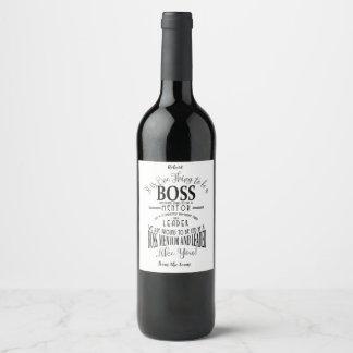 Etiqueta do vinho do chefe