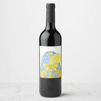 Etiqueta do vinho dos Daffodils da páscoa