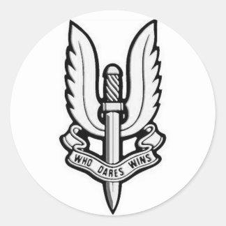 Etiqueta do vinil do emblema do SAS Adesivos Redondos
