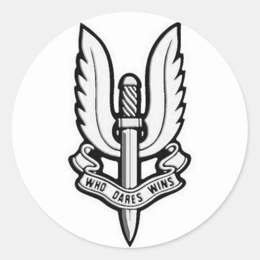 Etiqueta do vinil do emblema do SAS Adesivos Em Formato Redondos