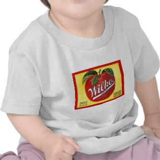 Etiqueta do vintage das maçãs da marca de Wilko Camisetas