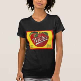 Etiqueta do vintage das maçãs da marca de Wilko Tshirts