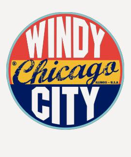 Etiqueta do vintage de Chicago Camisetas