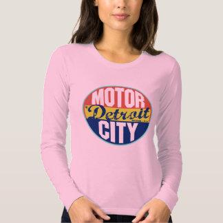 Etiqueta do vintage de Detroit T-shirts