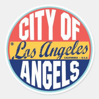Etiqueta do vintage de Los Angeles Adesivo