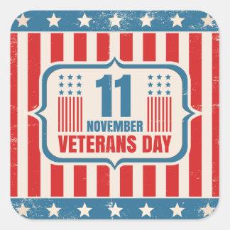 Etiqueta do vintage para o dia de veteranos