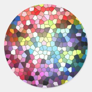 Etiqueta do vitral adesivos em formato redondos