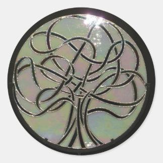 Etiqueta do vitral luzes de Lifes Adesivo Em Formato Redondo