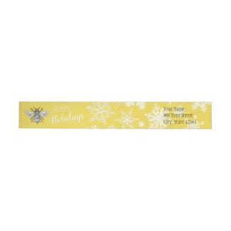 Etiqueta do Wraparound da abelha de rainha | do