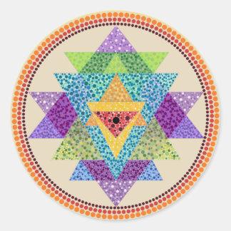Etiqueta do yantra de Sri