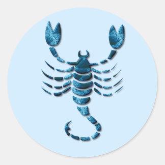 Etiqueta do zodíaco da Escorpião Adesivos Em Formato Redondos