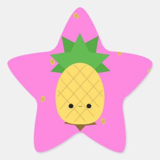 Etiqueta doce da estrela do abacaxi