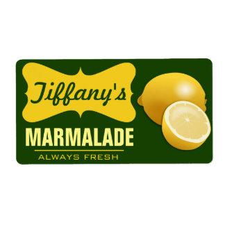 Etiqueta Doce de fruta orgânico natural do limão do doce |