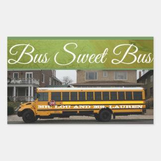 Etiqueta doce do auto escolar do ônibus do ônibus