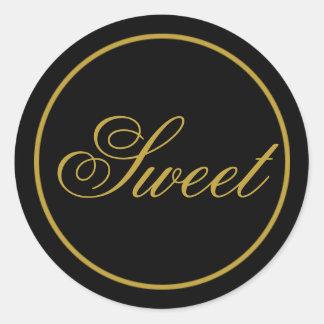 """Etiqueta """"doce"""" do casamento - ouro preto"""