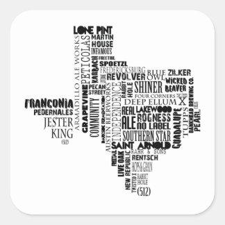 Etiqueta dos amantes da cerveja de Texas