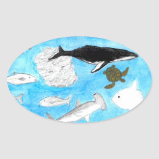 Etiqueta dos animais do oceano